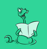 Loch Ness potwór Zdjęcia Stock