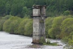 Loch Ness River Tower. The Loch Ness River Tower stock photo