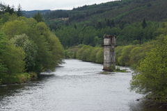 Loch Ness River Tower. The Loch Ness River Tower royalty free stock photo