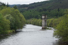 Loch Ness River Tower. The Loch Ness River Tower royalty free stock photos