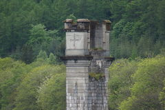 Loch Ness River Tower. The Loch Ness River Tower stock images