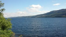 Loch ness. In Scotland 2014 sunny day blue sky Stock Images