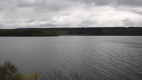 Loch Ness Scotland UK on a cloudy dull overcast day pan view stock video