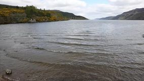 Loch ness Scotland uk popular tourist attraction viewed from Fort Augustus pan stock video
