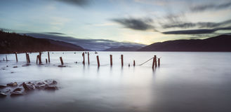 Loch Ness in Scotland. Loch Ness view in the Highlands of Scotland Royalty Free Stock Photos