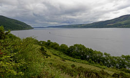 Loch Ness Skottland, Förenade kungariket Arkivfoton