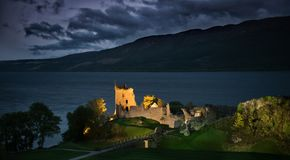 Free Loch Ness Urquhart Castle - Night Stock Photo - 102445510