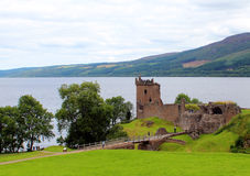 Loch Ness & Urquhart kasztel Obraz Stock