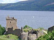 Loch Ness van het Kasteel van Urquhart Royalty-vrije Stock Afbeelding