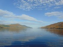 Loch Ness. View from the boat on Loch Ness on a sunny day in scotland Royalty Free Stock Images