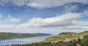 Loch Ness view from Farigaig in Scotland. View over Loch Ness from Farigaig in Scotland royalty free stock image