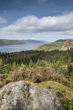 Loch Ness view from Farigaig in Scotland. Stock Photos