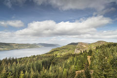 Loch Ness view from Farigaig in Scotland. Royalty Free Stock Photography