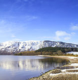 Loch Ness in winter. Shores of Loch Ness, near the town of Dores Stock Photography