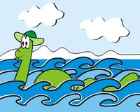 Loch- Nessmonster Lizenzfreies Stockfoto