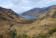 Loch Nevis, Scotland. Loch Nevis seen from the south on the cape Wrath trail Stock Images