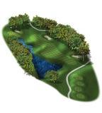 Loch-Pläne des Golfplatz-3D Lizenzfreies Stockfoto