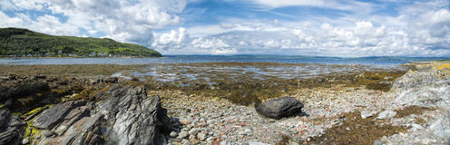 Loch Ranza-Panorama Lizenzfreie Stockfotos