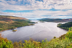Loch Riddon and Isle of Bute. The Kyles of Bute, also known as Argyll's Secret Coast, in the Firth of Clyde seen here looking down the eastern Kyle Stock Images