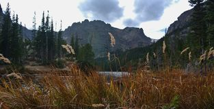The Loch, Rocky Mountain National Park, Estes Park Colorado. Hiking royalty free stock images