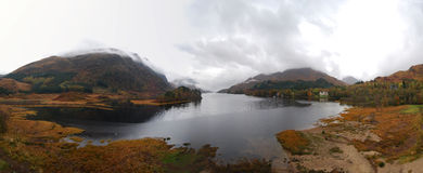 Loch in Scotland. A Loch in Scotland in Autumn Stock Photo