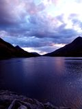 Loch in Scotland. A Scottish loch at sunset Royalty Free Stock Image