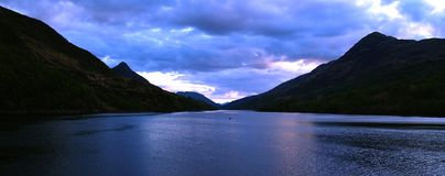 Loch in Scotland. A Scottish loch at sunset Royalty Free Stock Images