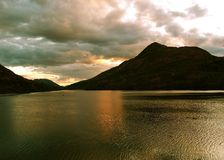 Loch in Scotland. A Scottish loch at sunset Stock Photography