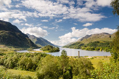 Loch Shiel and Glenfinnan monument Stock Photo