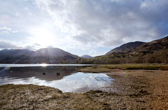 Loch Shiel Lake at Glenn Finnan Highlands Scotland Royalty Free Stock Photo