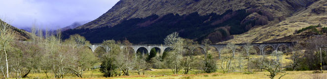 Loch Shiel, Lochaber. A beautiful viaduct located near Glenfinnan, famous for the Hogwarts Express travelling over it in the Harry Potter films Royalty Free Stock Photos