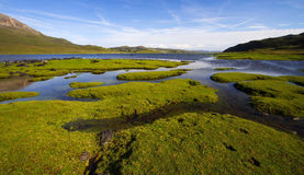 Loch slapin during summer, Scotland Stock Images