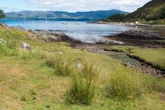Loch sunart Schotland het Verenigd Koninkrijk Europa royalty-vrije stock afbeeldingen