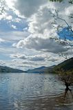 Loch tay and clouds Royalty Free Stock Image