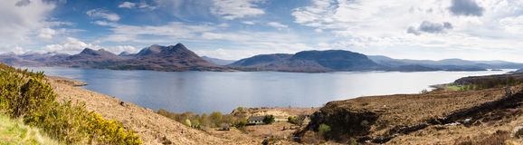 Loch Torridon Panorama Royalty Free Stock Photos
