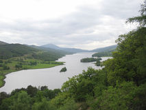 Loch Tummel de vue de reines Images stock