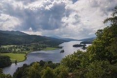Loch Tummel and the mountain Schiehallion stock image