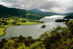 Loch Tummel, Perth en Kinross, Schotland Stock Afbeelding