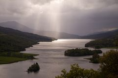 Loch Tummel, Scozia Immagine Stock