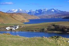 Loch, vale e exploração agrícola Fotos de Stock
