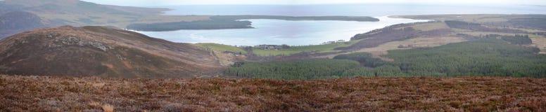Loch Vloot in de Hooglanden van ScotlandPanoramic stock fotografie