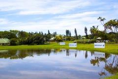 9. Loch-Wasser Hazzard an Golfclub Mt Edgecombe Lizenzfreie Stockbilder