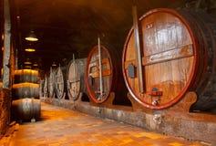 Loch z wino baryłkami Zdjęcia Royalty Free