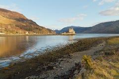 Lochalsh,苏格兰的凯尔-大约2013年3月:爱莲・朵娜城堡看法  免版税库存图片