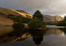 Lochan Urr in Glencoe, Scotland Royalty Free Stock Photos