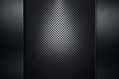 Lochblech mit Poliermetallplattenfahne Lizenzfreies Stockbild