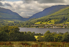 Lochearnhead. The village of Lochearnhead is situated at the western end of Loch Earn, in the Loch Lomond and Trossachs National Park in Scotland Stock Images