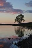 Lochidorb på solnedgången scotland Royaltyfri Foto