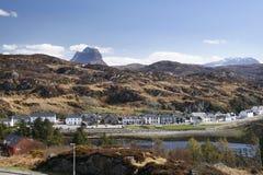 Lochinver Dorf Stockbild
