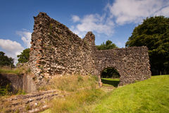Lochmaben Castle, Dumfries and Galloway, Scotland. Lochmaben Castle in Dumfries and Galloway, Scotland, is a ruined late 13th century fortress built by Edward I Stock Photos